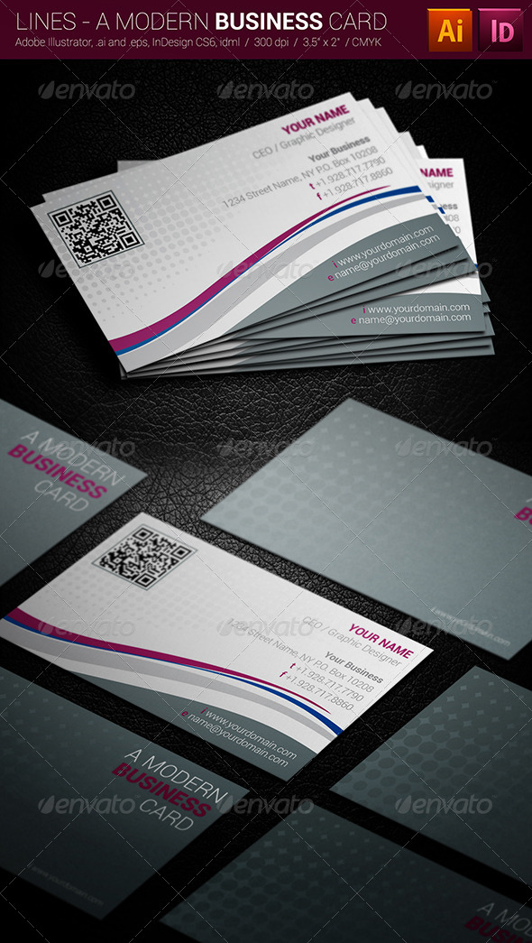 Lines - A Modern Business Card - Corporate Business Cards