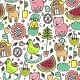 Cute Colourful Seamless Childish Pattern - GraphicRiver Item for Sale