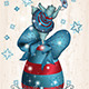 Vintage Easter Hippo Dancing on an Egg - GraphicRiver Item for Sale