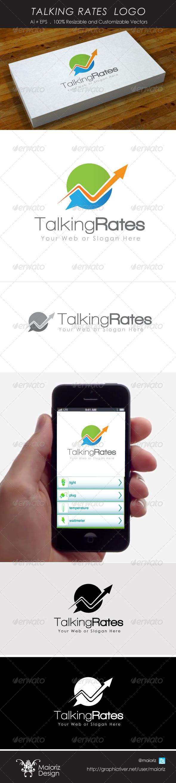 Talking Rates Logo - Vector Abstract