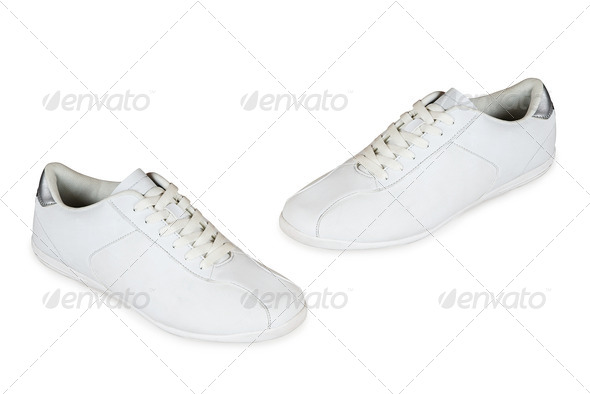 Sport shoes pair on a white - Stock Photo - Images