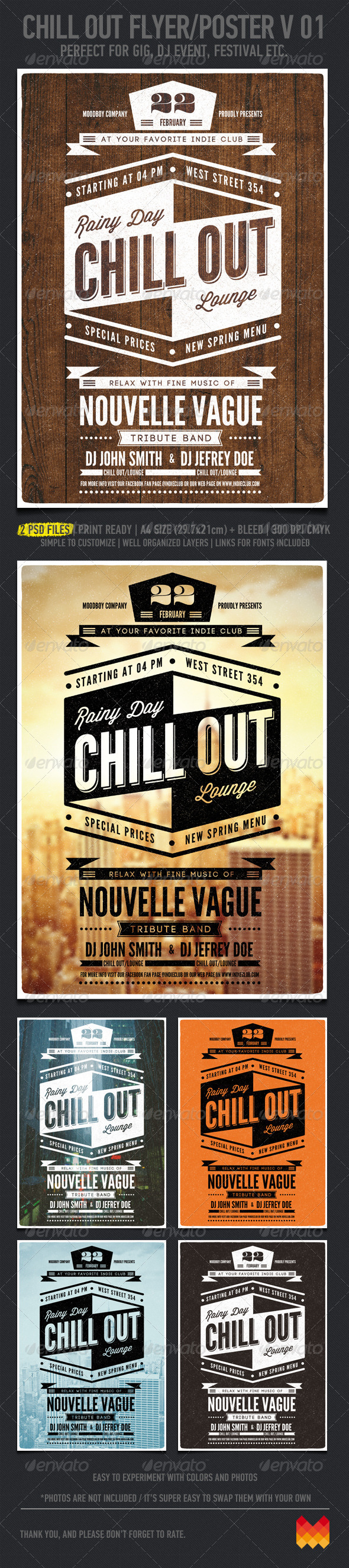 Chill Out Flyer/Poster V. 01 - Flyers Print Templates