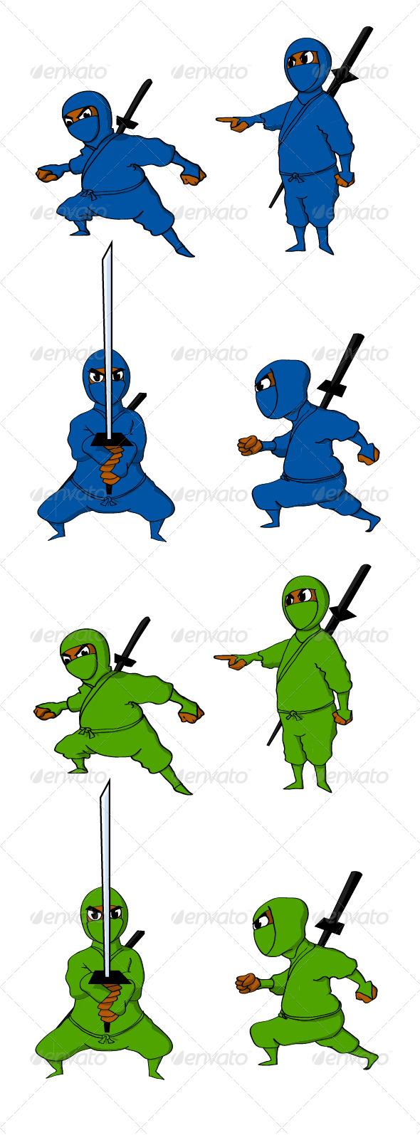 Ninjas - People Characters