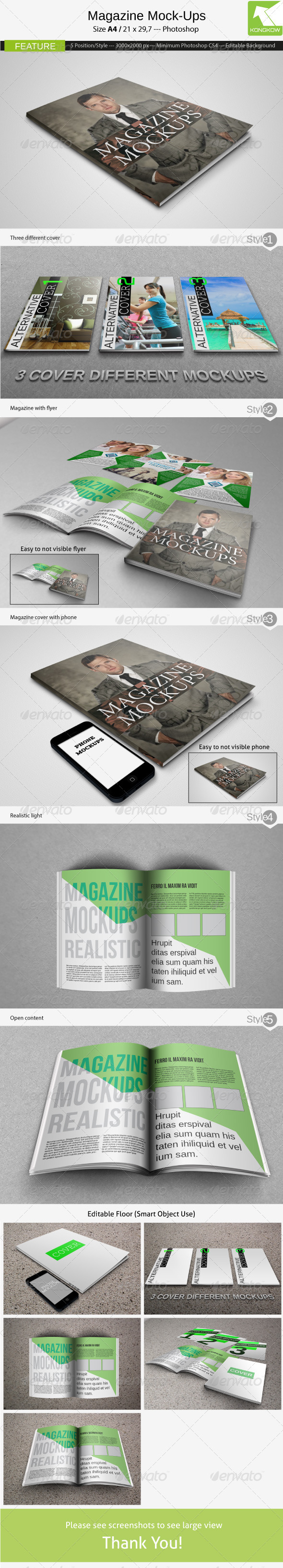 Magazine Mockups - Print Product Mock-Ups