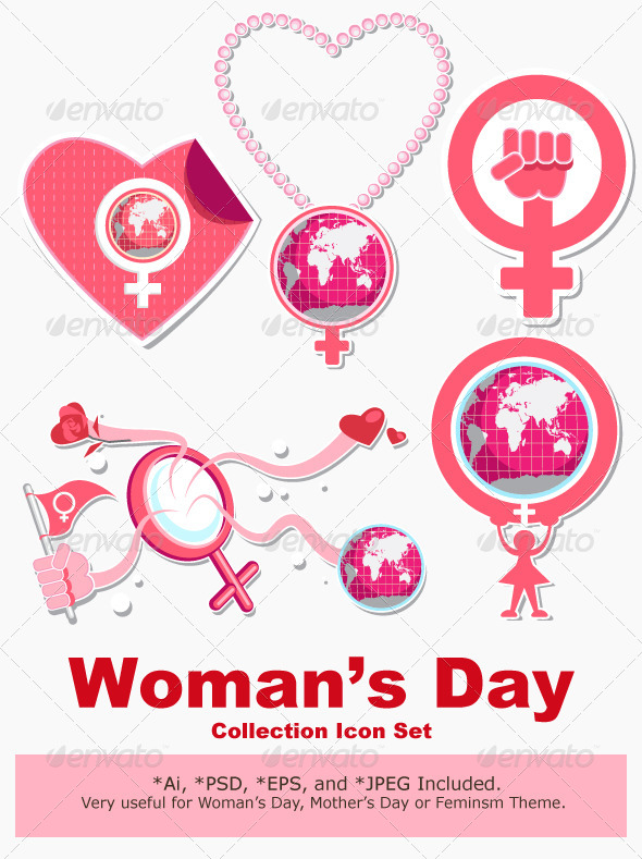 International Woman Day Symbol and Icon - Miscellaneous Vectors