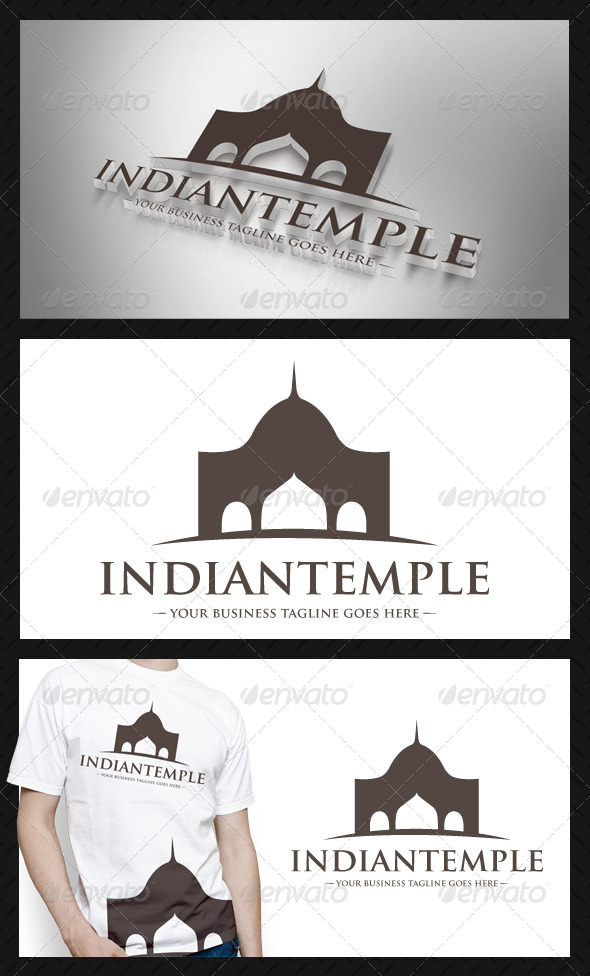 Indian Architecture Logo Template - Buildings Logo Templates