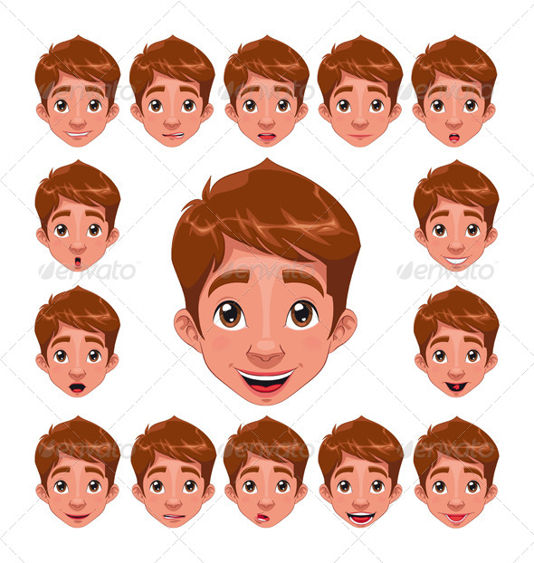 Boy Expressions with Lip Sync  - People Characters