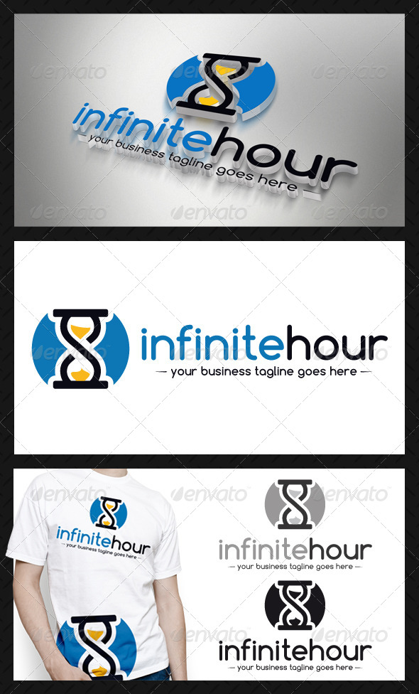 Infinite Hourglass Logo Template - Objects Logo Templates