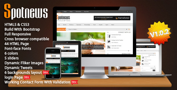 Spotnews - Multi-Purpose Responsive Template