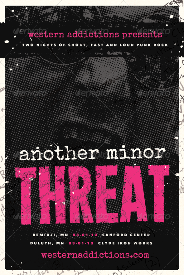 Another Threat - Punk Rock Flyer Template - Concerts Events