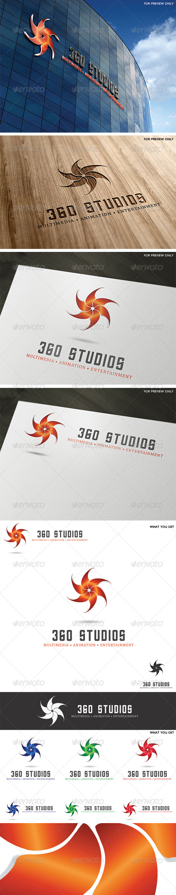 360 Studios Logo Template - Vector Abstract