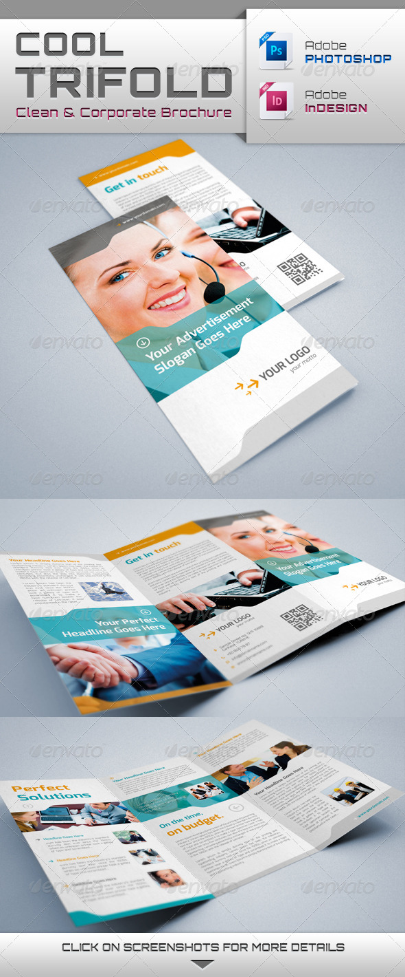 Cool Trifold Brochure - Brochures Print Templates