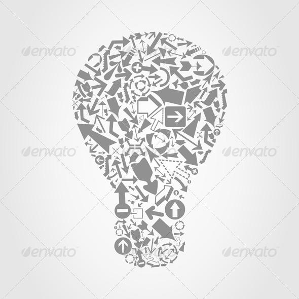Arrow a Bulb - Miscellaneous Vectors
