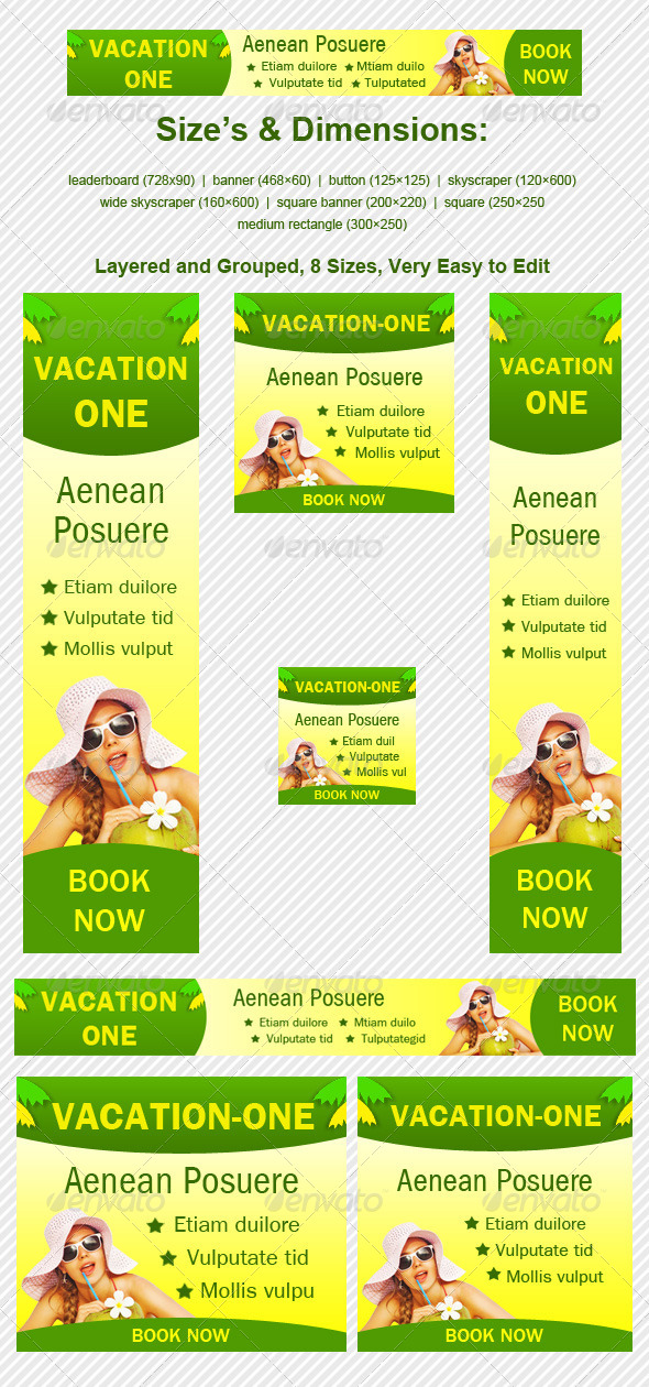 Vacation One Banner - Banners & Ads Web Elements