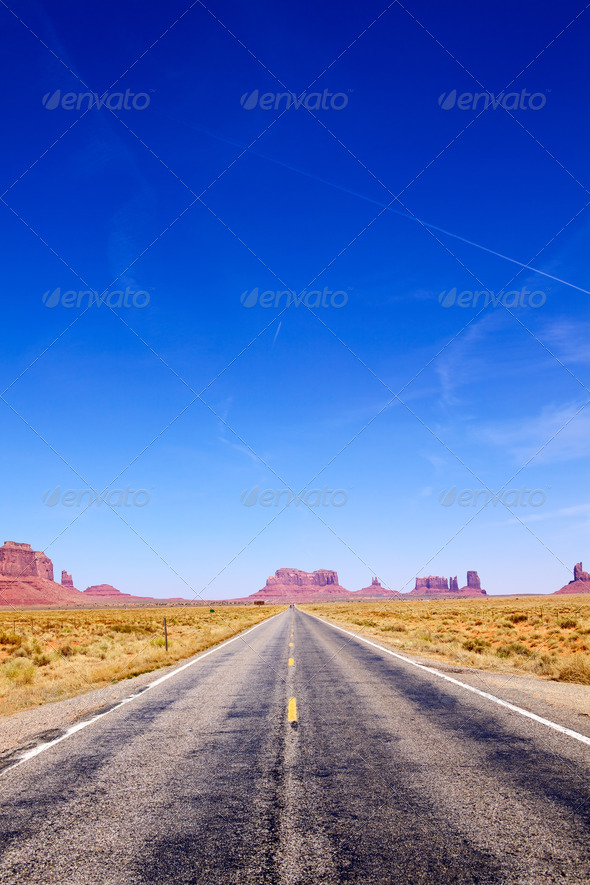 Road to Monument Valley - Stock Photo - Images
