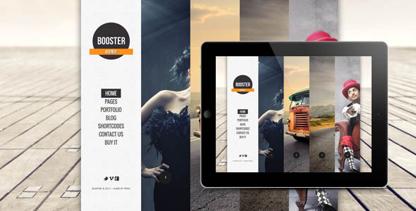 BOOSTERIUS – Responsive one page slide WordPress theme