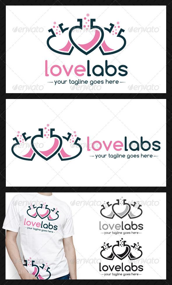 Love Lab Logo Template - Symbols Logo Templates