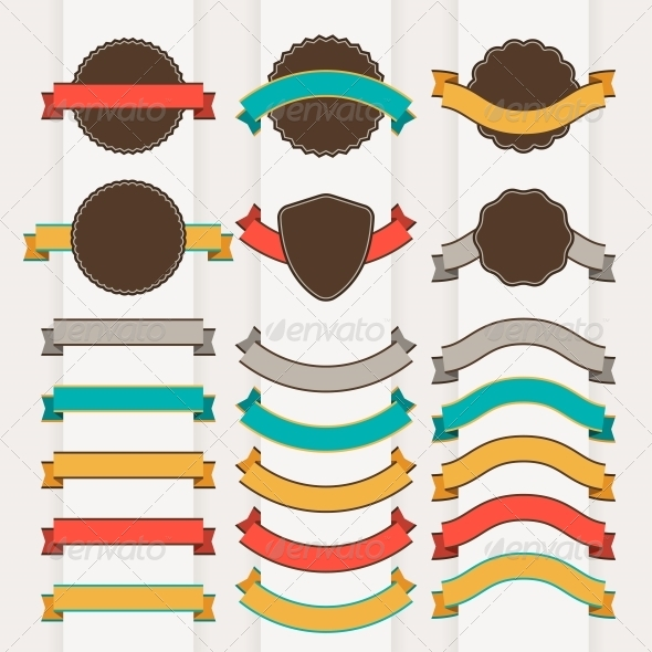 Set of Retro Design Elements - Decorative Symbols Decorative