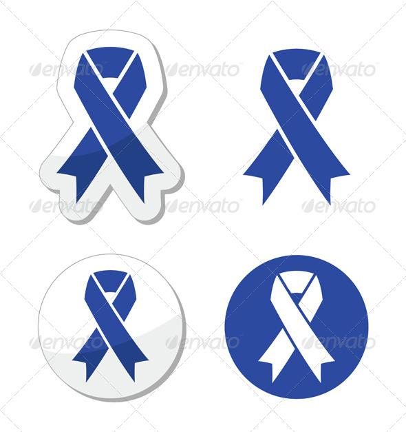 Navy Blue Ribbon - Child Abuse, Drunk Driving  - Health/Medicine Conceptual