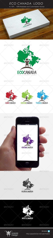 Eco Canada Logo - Vector Abstract