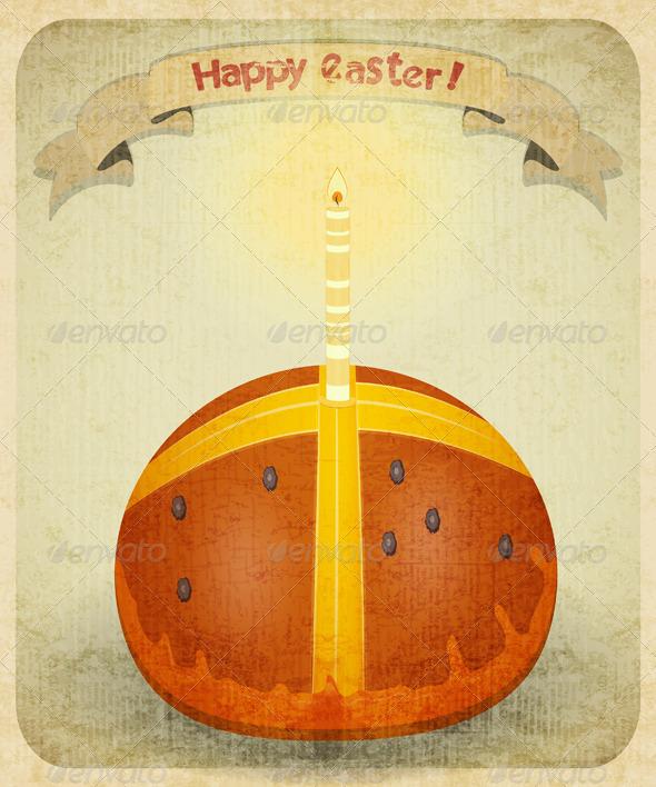 Vintage Retro Easter Card - Seasons/Holidays Conceptual