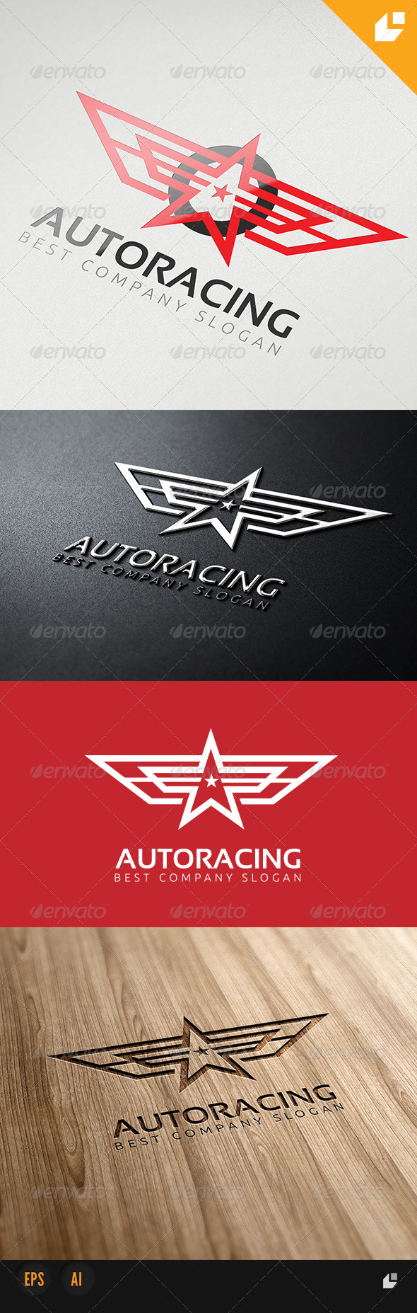 Auto Racing Logo - Animals Logo Templates