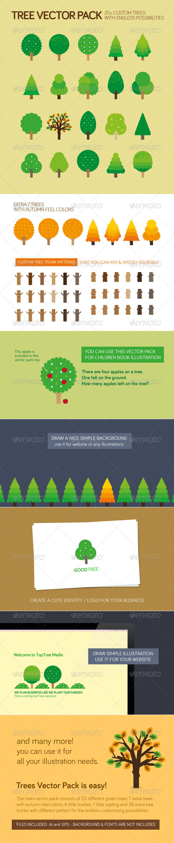 Trees Vector Pack - Objects Vectors