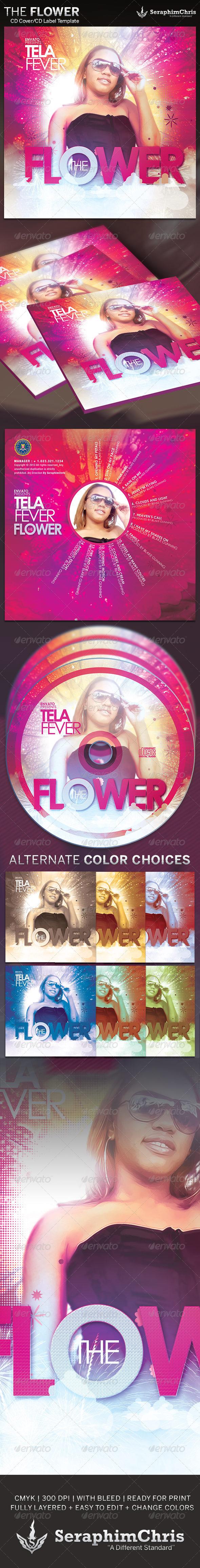 The Flower: CD Cover Artwork Template - CD & DVD Artwork Print Templates