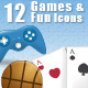 12 Games & Fun Icons - GraphicRiver Item for Sale