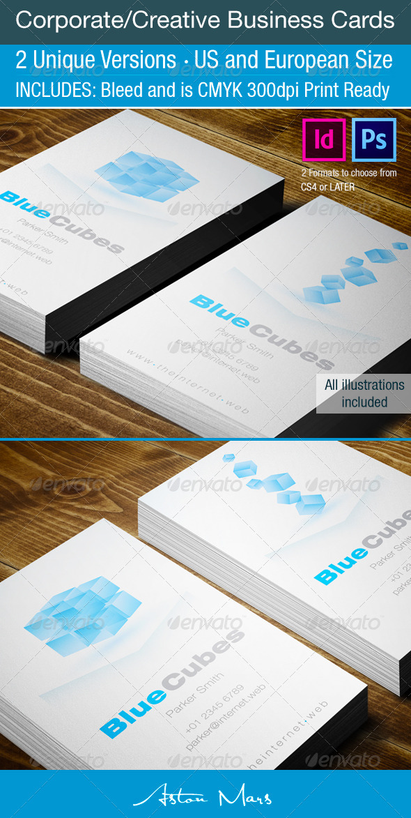Cube Corporate Busness Cards - Corporate Business Cards