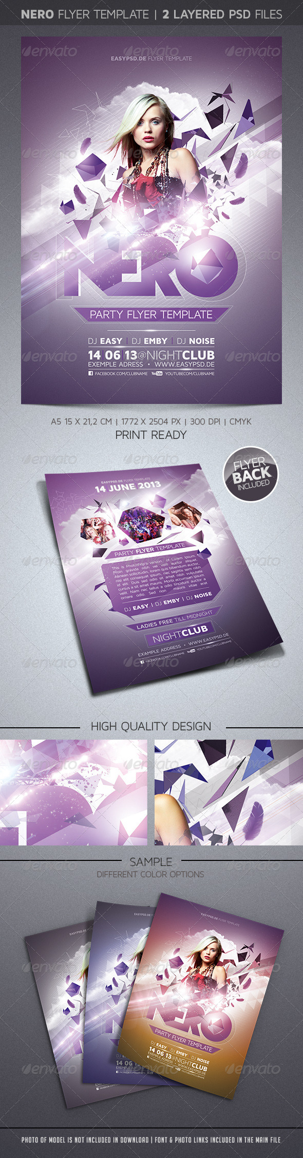 Nero Flyer Template - Clubs & Parties Events
