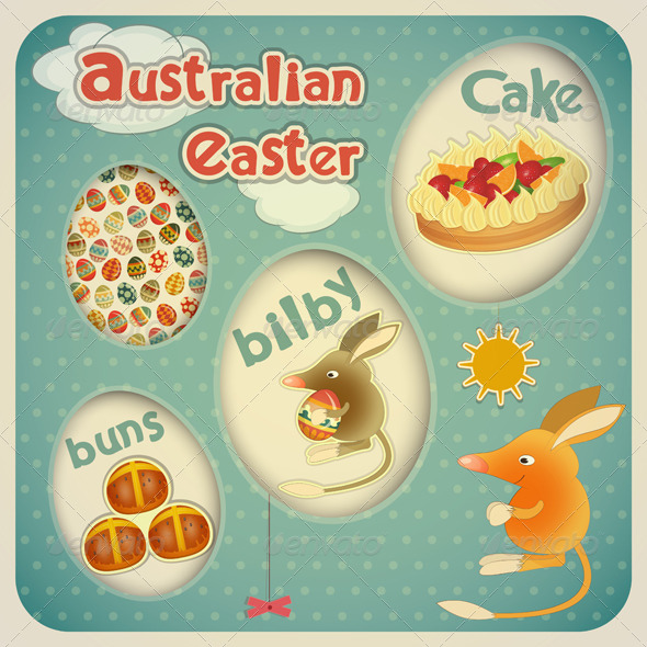 Easter Australian Card - Seasons/Holidays Conceptual