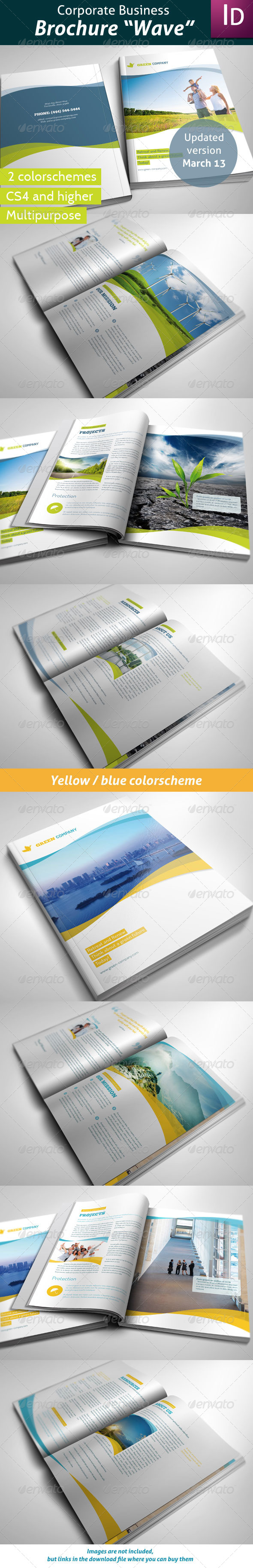Business Brochure Wave - Corporate Brochures