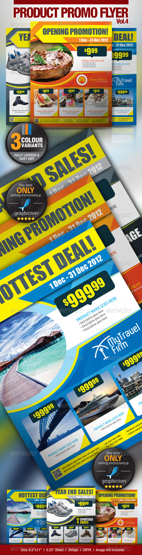 Multi-Purpose Product Promotion Vol.4 - Commerce Flyers