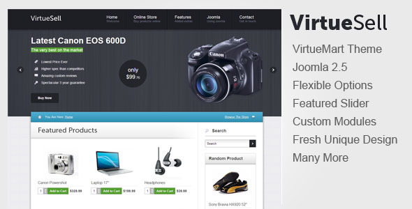 VirtueSell Joomla VirtueMart Template - VirtueMart Joomla
