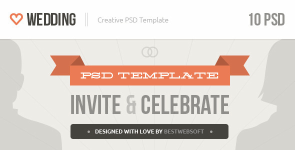 Wedding - Creative PSD Template - Events Entertainment