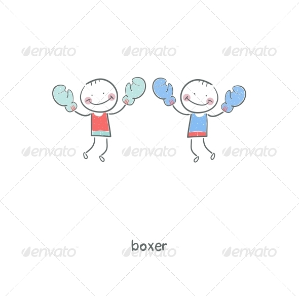 Boxers. Illustration. - People Characters