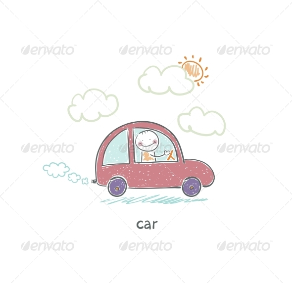 Eco Car - People Characters