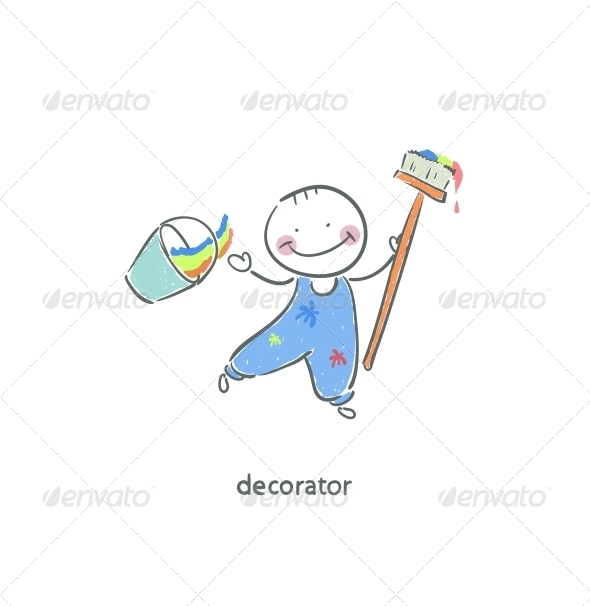 Decorator. - People Characters