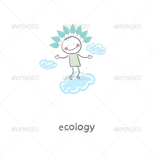 Eco Man in the Sky - People Characters