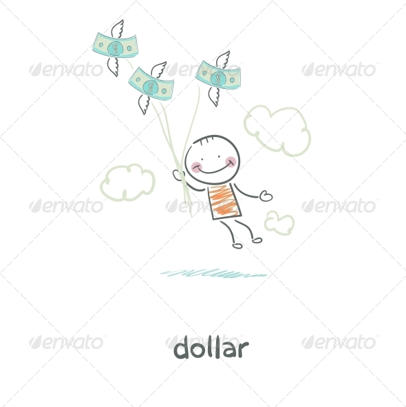 People and Money. Illustration. - People Characters
