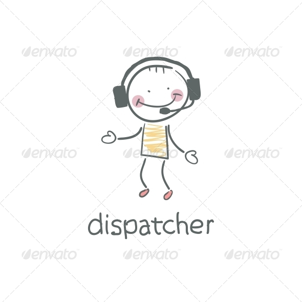 Dispatcher. Illustration. - People Characters