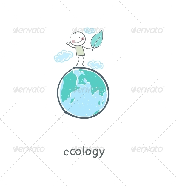 Eco People. Illustration. - People Characters