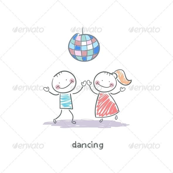 Dancing Couple - People Characters