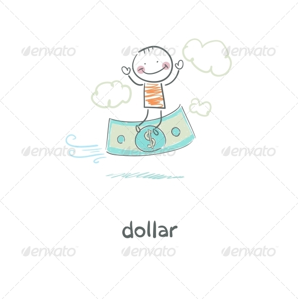 Man and Money. Illustration. - People Characters