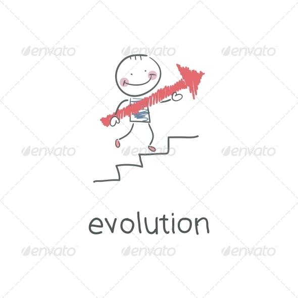 Evolution Career. Illustration - People Characters