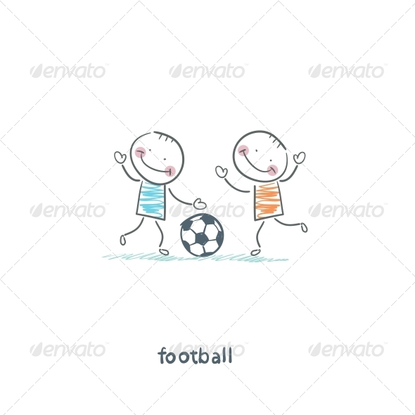 The Boys are Playing Football - People Characters
