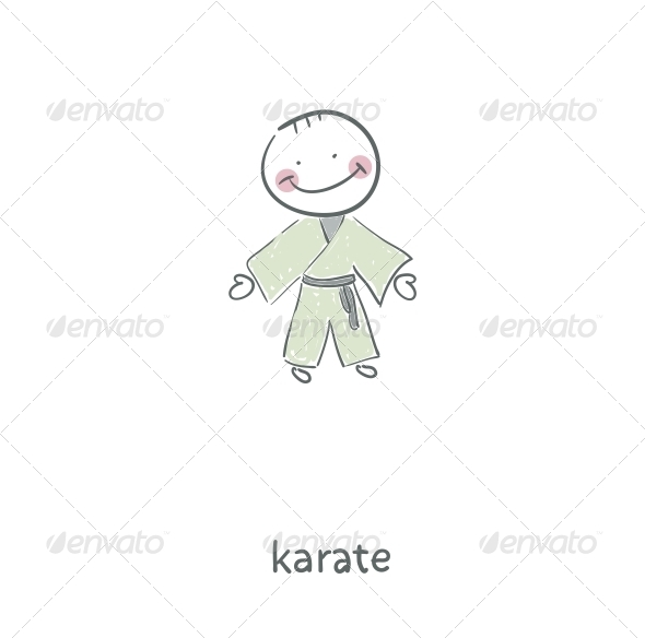 Karate. Illustration. - People Characters