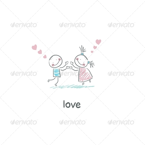 Lovers. Illustration. - People Characters