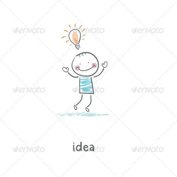 Ideas. Illustration. - People Characters